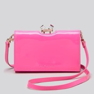 Ted Baker London hot pink patent leather crossbody